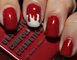 some easy halloween nail art with obsessive compulsive cosmetics