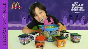 charlie brown mcdonalds happy meal halloween surprise toys lucas