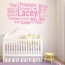 Personalized Wall Decals For Nursery Personalized Nursery Wall Decals Baby Name Decals