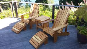 Patio Table And Bench Seattle Adirondack Chairs And Cedar Outdoor Furniture