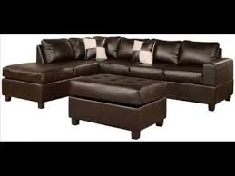 soft touch reversible bonded leather match 3 piece sectional sofa