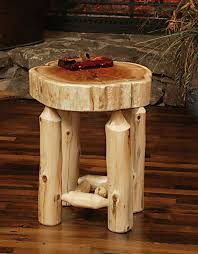 How To Make A Wooden End Table by How To Make A Log End Table Table Designs