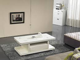 Ivory Coffee Table Modern Ivory White Gloss Rectangular Coffee Table With Drawer