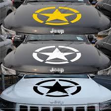 jeep hood stickers 50cm 55cm us army star vinyl car decal bumper sticker ww2 willys