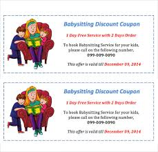 baby sitting coupon template u2013 10 free printable pdf documents
