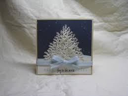 branch punch christmas tree handmade cards pinterest martha
