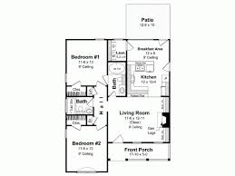 House Plans With Kitchen In Front Bungalow House Plan With 1000 Square Feet And 2 Bedrooms From