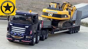 bruder excavator toy truck videos children bruder trucks tunnel project excavator