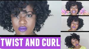 perm left to dry naturally on medium to long hair dry twist curl tutorial with perm rods on natural hair youtube