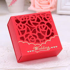 lottery ticket wedding favors wedding favour boxes creative hollow laser cut flora square
