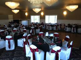 Pleated Table Covers Wedding Themes In Black And Dark Red Black Table Cloths With