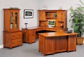 Mission Style Computer Desk With Hutch by Office Mary Jane U0027s Solid Oak Furniture