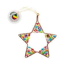 colorful beaded ornament by ornaments 4 orphans thrive market