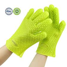 gant de cuisine anti chaleur denkich paire gants en silicone anti chaleur etanche imperméable