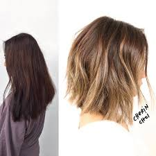 cut before dye hair before and after on this hair makeover from a box home dye