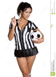 Soccer Referee Halloween Costume Soccer Referee Woman Stock Photo Image 6150600