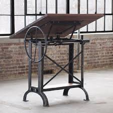 Iron Drafting Table Campos Iron Works Modern Iron Industrial Desks Standup