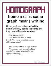 homograph vocabulary poster i abcteach com abcteach