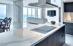 kitchen neolith estatuario calacatta countertop electric cooktop