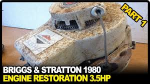 briggs and stratton engine repair 3 5hp 1980 part 1 youtube