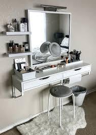 Makeup Vanity Ideas Vanities Makeup Vanity With Shelves Vanity And Makeup Storage