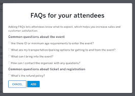 Faq How To Add Event Faqs To An Event Listing Eventbrite Support