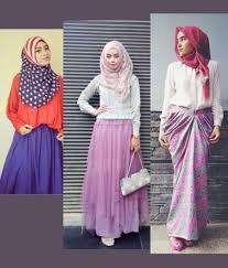 rok panjang muslim memilih atasan untuk rok panjang