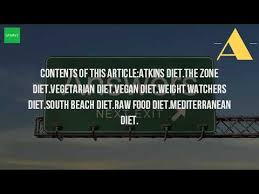 what are the different types of diets youtube