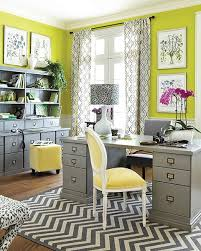 Grey And Lime Curtains 30 Gorgeous Home Office Designs