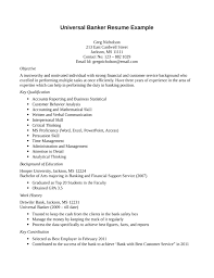 Banking Resume Sample Entry Level by 100 Banker Resume Personal Trainer Resume Best Template