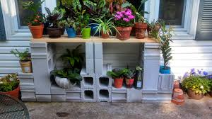 Cinder Block Decorating Ideas by Cinder Block Shelves For Plants Home Decorations Find Out