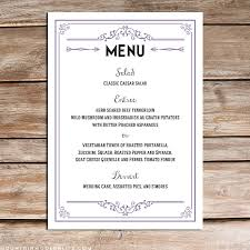 printable lavender invitation set rustic wedding menu wedding