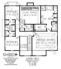 craftsman style house floor plans barrington house plan house plans by garrell associates inc