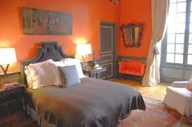 deco chambre orange chambre mur orange