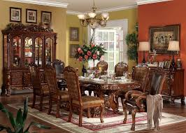 Dining Room Chairs Cherry Furniture Dresden Formal Dining Room Set In Cherry