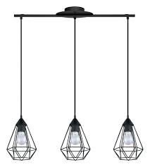 Black Pendant Ceiling Light Eglo 94189a Tarbes 3 Light 6 Inch Matte Black Multi Light Pendant