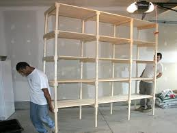 Free Standing Wood Shelves Plans by Build Garage Storage Free Standing Garage Shelf Plans Shed Plans