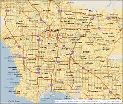 Los Angeles Airport Map by Map Of Los Angeles California California Map