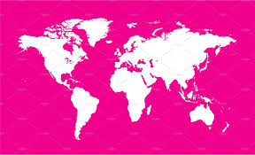 Venezuela Location On World Map by World Map Planet Red Color Flat Web Elements Creative Market