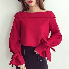 one shoulder blouse 2018 one shoulder blouse fashion womens slash neck sleeve