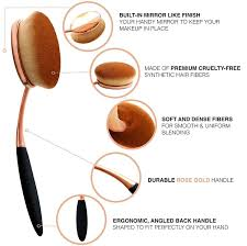 How To Shape Eyebrows With Concealer Amazon Com Yoseng Makeup Brushes Set 10pcs Professional Oval