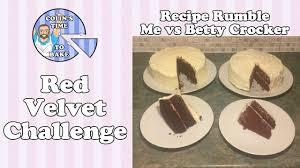 red velvet cake me vs betty crocker recipe rumble youtube