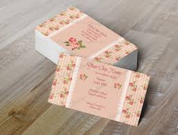 double sided business card shabby chic by pixelpixiedesign on etsy