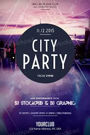free psd event flyer templates download city party free psd flyer