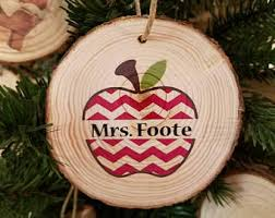 tree ornaments wood slices personalized photo use
