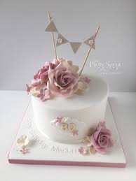 80th birthday cakes vintage style 80th birthday cake with sugar roses and bunting topper