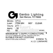 light fixture ballast philips gardco parking lot light fixture metal halide 277v 175w