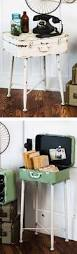 Make A Cheap End Table by How To Make A Suitcase Coffee Table Upcycling Cabin And Decorating