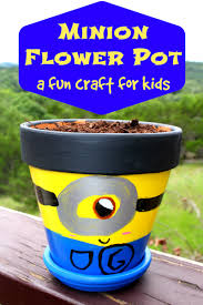 minion flower pot simple crafts summer months and crafts