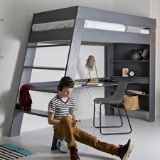 Kids Office Desk by Julien Kids Loft Bed U0026 Desk In Brushed Grey Pine Single Beds Cucko